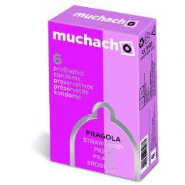 60 PRESERVATIVI MUCHACHO FRAGOLA PROFILATTICI 10 SCATOLE DA 6 KONDOM