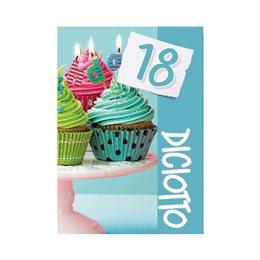 60 BIGLIETTINI INVITO BIGLIETTI INVITI FESTA COMPLEANNO 18 ANNI + BUSTA ID22