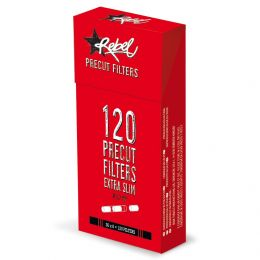 2400 FILTRI REBEL EXTRA SLIM 5,7 MM 20 CONFEZIONI DA 120 RUVIDI 1 BOX