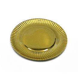 12 VASSOI ROTONDI SOTTO TORTA MERLETTATO 35 CM IN CARTONCINO PIATTO BASE ORO