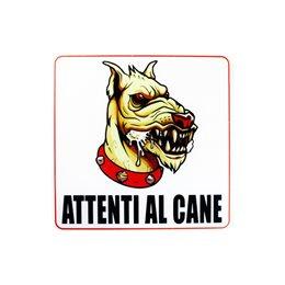 1 CARTELLO TARGA ATTENTI AL CANE BIADESIVO 3M PVC LUCIDO 12 X 12 CM