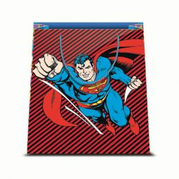 1 BORSA REGALO IN CARTA SACCHETTO CARTONCINO PLASTIFICATO SHOPPER DC COMICS SUPERMAN 2 26 X 32 CM