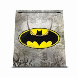 1 BORSA REGALO IN CARTA SACCHETTO CARTONCINO PLASTIFICATO SHOPPER DC COMICS BATMAN 2 31,5 X 45 CM