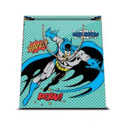 1 BORSA REGALO IN CARTA SACCHETTO CARTONCINO PLASTIFICATO SHOPPER DC COMICS BATMAN 1 31,5 X 45 CM