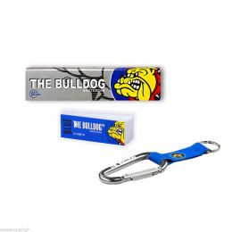 THE BULLDOG 165 CARTINE LUNGHE KS SILVER 200 FILTRI CARTA BLU PORTACHIAVI