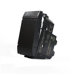 1 PULSANTE INTERRUTTORE 2P ELECTROWATT BIPOLARE NERO 16A COMPATIBILE BTCINO LIVING