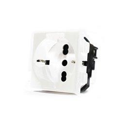 1 PULSANTE DEVIATORE 1P ELECTROWATT A LEVA BIANCO 16A COMPATIBILE BTCINO MATIX