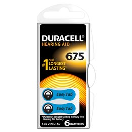 3 BATTERIE DURACELL EASY TAB 675 PR44 1.45 V SPECIALISTICHE BLU DA675N6