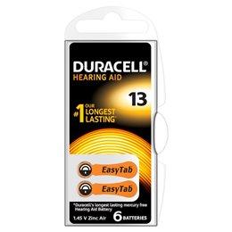 3 BATTERIE DURACELL EASY TAB 13 PR48 1.45 V SPECIALISTICHE ARANCIO DA13N6