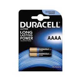 2 BATTERIE DURACELL ULTRA AAAA 1.5 V ALCALINA MX2500 E96 LR8D425 TELECOMANDO