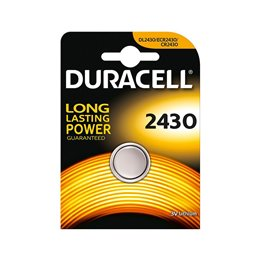 1 BLISTER BATTERIA A BOTTONE DURACELL CR 2430 LITIO DL2430 3 V ECR2430