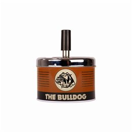 POSACENERE METALLO THE BULLDOG AMSTERDAM ASHTRAY SPIN GIREVOLE VINTAGE BROWN