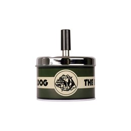 POSACENERE METALLO THE BULLDOG AMSTERDAM ASHTRAY SPIN GIREVOLE VINTAGE BLACK