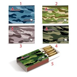 20 FIAMMIFERI FIAMMINO ANTIVENTO ARMY 4 CM 1 SCATOLA WINDPROOF MODELLO 5
