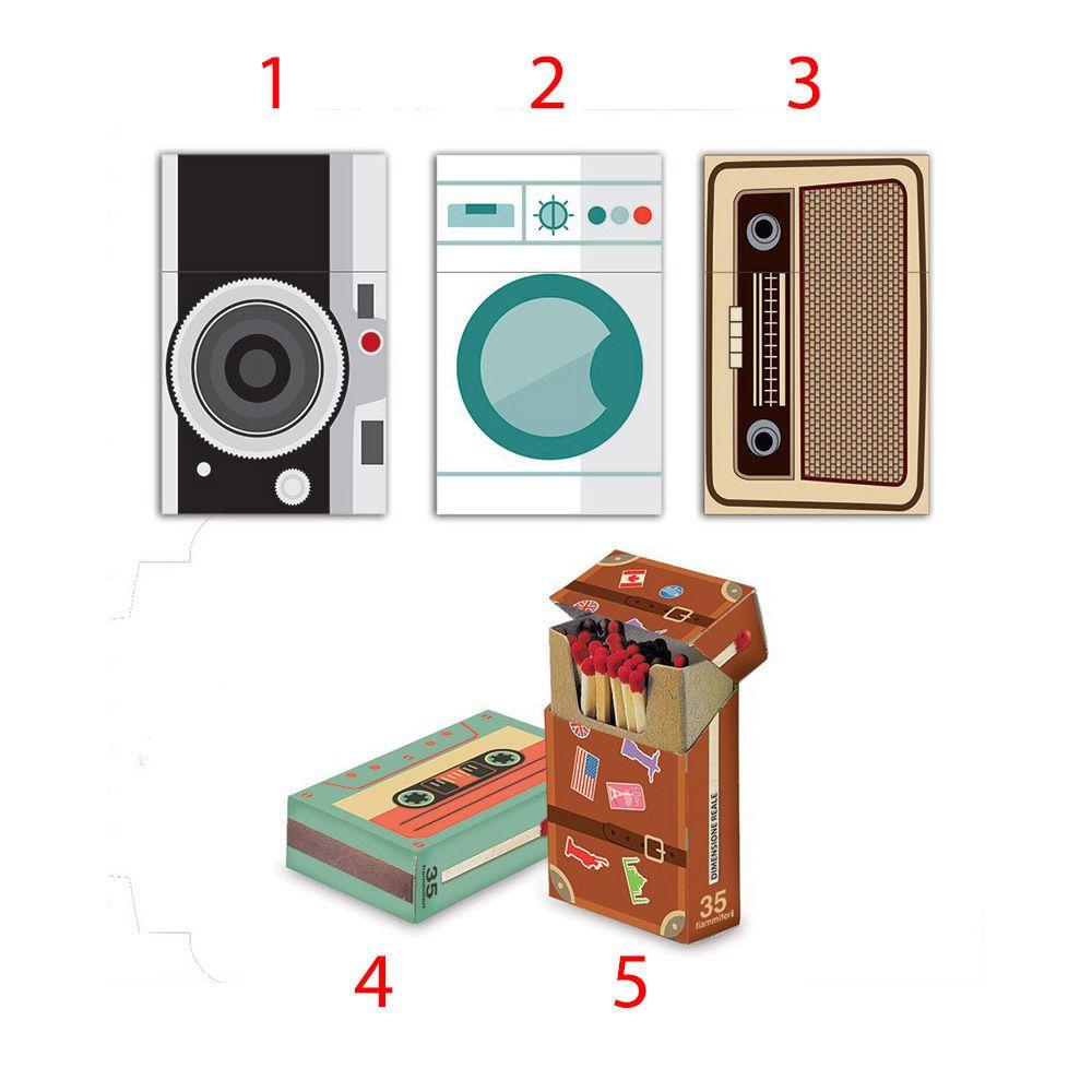 Collezionista Di Scatole Fiammiferi 35 fiammiferi fiammino flip top old style 4,5 cm 1 scatola collezio