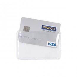 Porta carta di credito in plastica trasparente