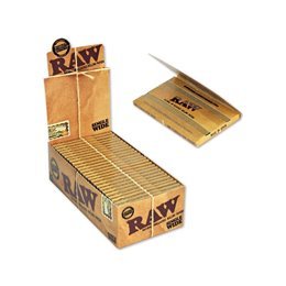 2500 CARTINE DOPPIE RAW CORTE NATURAL SINGLE WIDE 25 PZ LIBRETTI 1 BOX