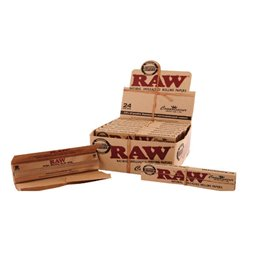 1536 CARTINE RAW CONOISSEUR CLASSIC KING SIZE LUNGHE + 1536 FILTRI TIPS 48 LIBRETTI 2 BOX