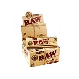 3072 CARTINE RAW CONOISSEUR ORGANIC HEMP KS LUNGHE + 3072 FILTRI TIPS 96 LIBRETTI 4 BOX