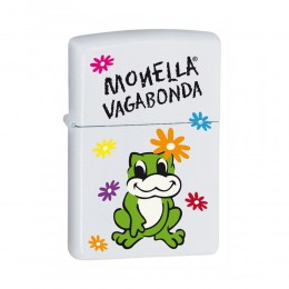 ACCENDINO ZIPPO ANTIVENTO A BENZINA LIGHTER MONELLA VAGABONDA WHITE 11H011