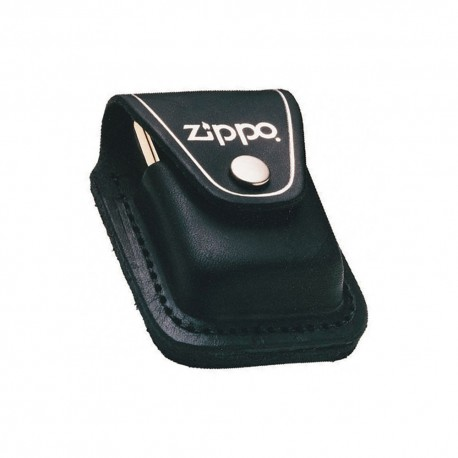 CUSTODIA ACCENDINO ZIPPO IN CUOIO NERO CON PASSANTE CLIP LIGHTER HOLDER LPLBK
