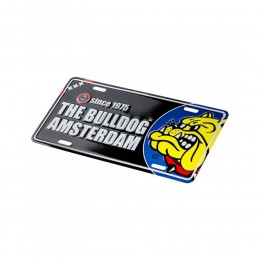 LICENSE PLATE THE BULLDOG TARGA TARGHETTA IN ALLUMINIO BULPLA001