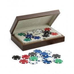 GAME SET POKER JUEGO DUBLINO 100 FISCHES CHIPS DA 11,5 GR TEXAS HOLDEM DEALER