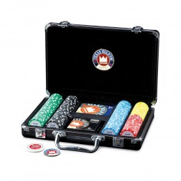 VALIGETTA SET JUEGO TOURNAMENT 200 1 MAZZO 200 FISCHES 14G POKER TIME DEALER