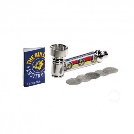 PIPA IN METALLO THE BULLDOG AMSTERDAM METAL PIPE SET PER TABACCO BULPIP001