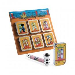 SMOKING SET CHILLING TIME MARIJANO'S JOY PALACE ACCENDINO CON PIPETTA E FILTRI
