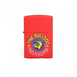 ACCENDINO ZIPPO ANTIVENTO A BENZINA LIGHTER THE BULLDOG AMSTERDAM ROSSO