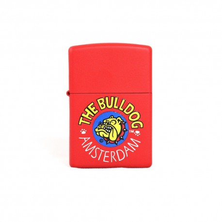 ACCENDINO ZIPPO ANTIVENTO A BENZINA LIGHTER THE BULLDOG BULZIP001 ROSSO