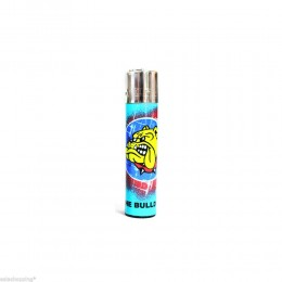 ACCENDINO CLIPPER A GAS THE BULLDOG AMSTERDAM RICARICABILE LOGO GRAFFITI BLU