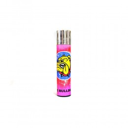 ACCENDINO CLIPPER A GAS THE BULLDOG AMSTERDAM RICARICABILE LOGO GRAFFITI ROSA