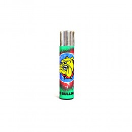 ACCENDINO CLIPPER A GAS THE BULLDOG AMSTERDAM RICARICABILE LOGO GRAFFITI VERDE