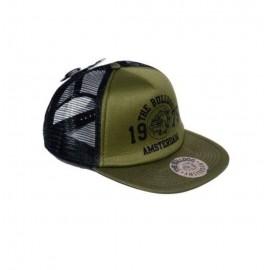 CAPPELLO BERRETTO THE BULLDOG TRUCKER CAP ARMY CON VISIERA REGOLABILE HIP HOP