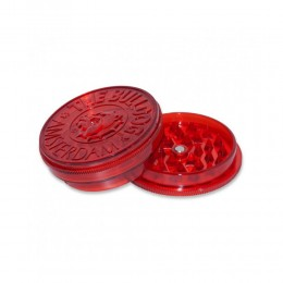 GRINDER PER TABACCO THE BULLDOG IN PLASTICA RED 2 PARTI TRITATABACCO BULGRI006