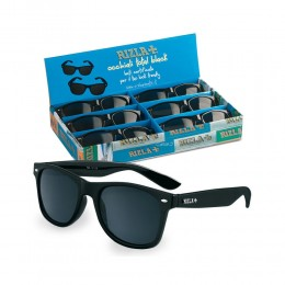 OCCHIALI DA SOLE RIZLA UOMO DONNA SUNGLASSES NERI TOTAL BLACK TIPO RAY BAN