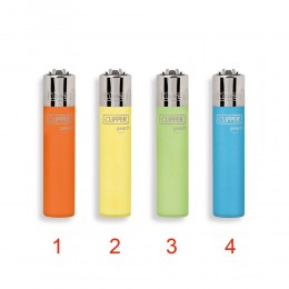1 ACCENDINO CLIPPER A GAS MICRO PEACH RICARICABILE REGULAR VARI COLORI