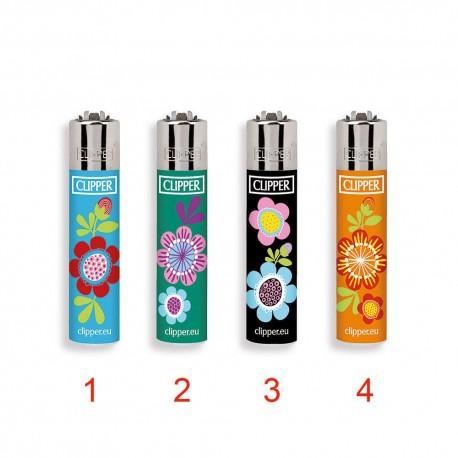 1 ACCENDINO CLIPPER A GAS MICRO FLOWERS 13 RICARICABILE PICCOLO VARI COLORI