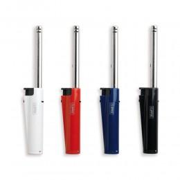 1 ACCENDIGAS IN PLASTICA CLIPPER A GAS PIEZO RICARICABILE ELETTRONICO BLU