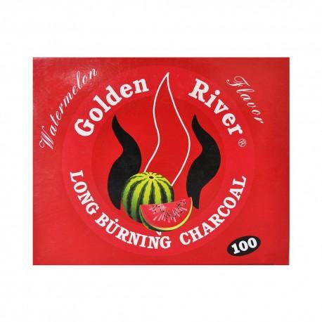 100 CARBONCINI GOLDEN RIVER NARGHILE CARBONE HOOKAH SHISHA CARBONI ANGURIA