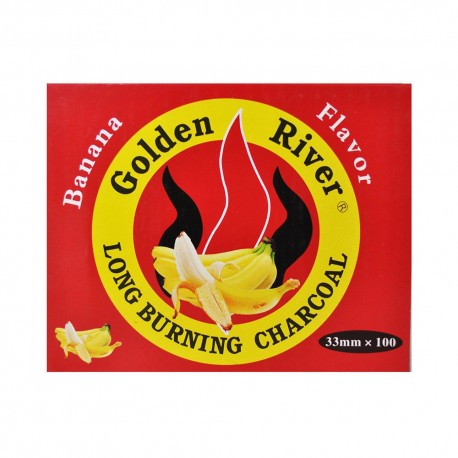 100 CARBONCINI GOLDEN RIVER NARGHILE CARBONE HOOKAH SHISHA CARBONI BANANA