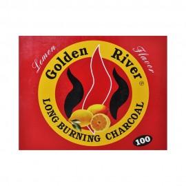 100 CARBONCINI GOLDEN RIVER NARGHILE CARBONE HOOKAH SHISHA CARBONI LIMONE