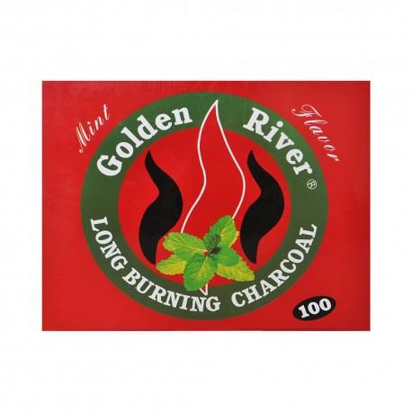100 CARBONCINI GOLDEN RIVER NARGHILE CARBONE HOOKAH SHISHA CARBONI MENTA