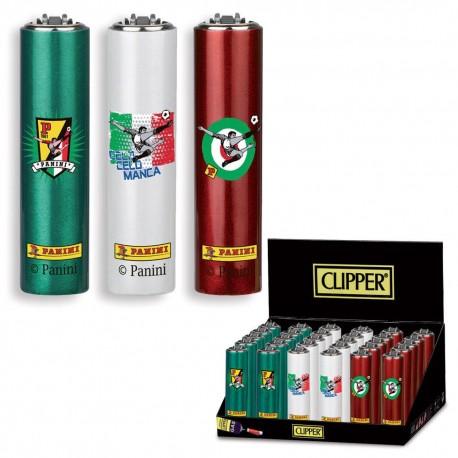 3 ACCENDINI CLIPPER A GAS MICRO RICARICABILE + PORTACCENDINI PANINI METAL CASE