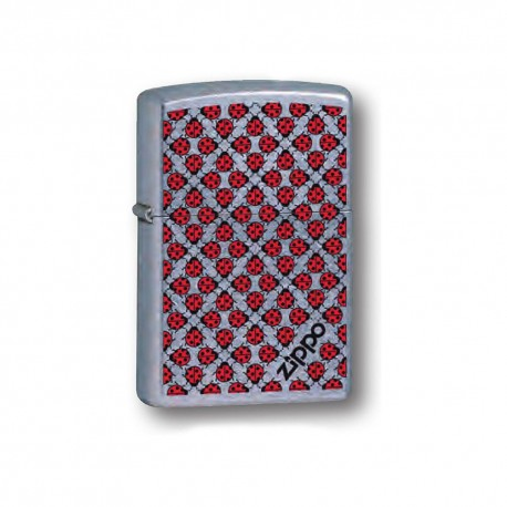 ACCENDINO ZIPPO ANTIVENTO A BENZINA LIGHTER LADY BUG WALL PAPER 13N001