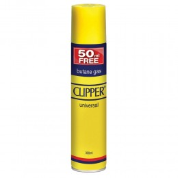 5 GAS BUTANO CLIPPER PER RICAMBIO RICARICA ACCENDINI LIGHTER BUTANE 250+50 ML