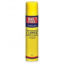 10 GAS BUTANO CLIPPER PER RICAMBIO RICARICA ACCENDINI LIGHTER BUTANE 250+50 ML