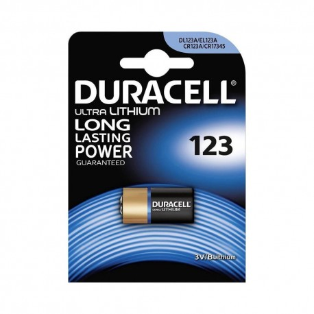 1 BATTERIA DURACELL DL123A EL123A CR123A CR17345 3V 1400 MAH PHOTO AL LITIO